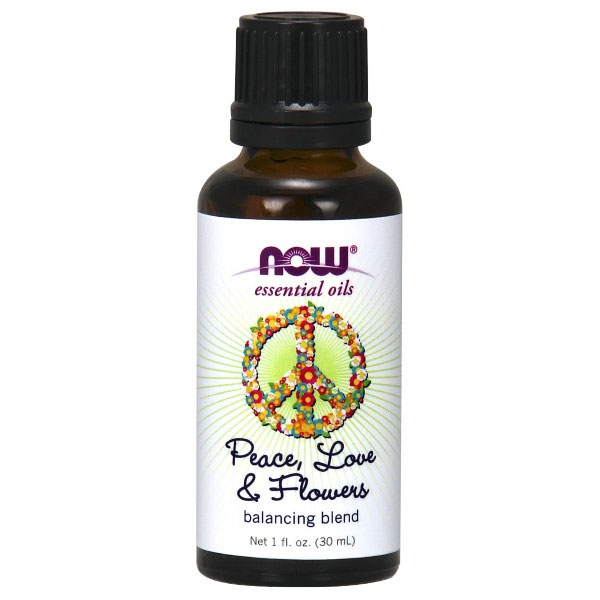 Peace, Love & Flowers Essential Oil Balancing Blend, 1 oz, NOW Foods