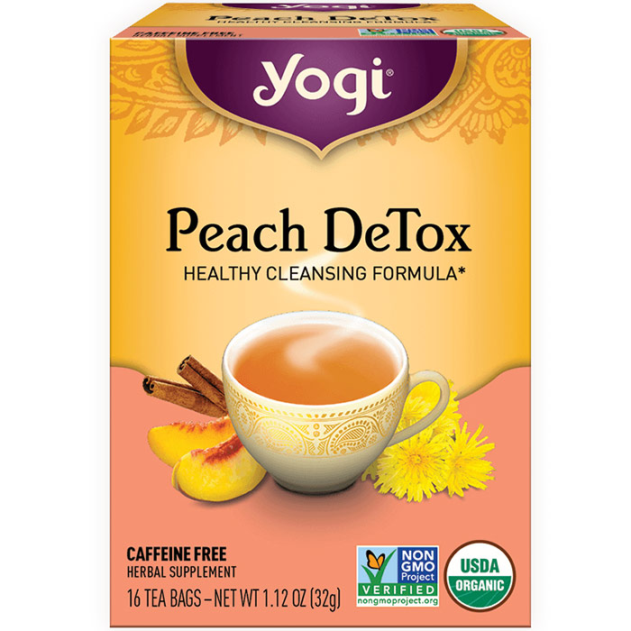 Peach DeTox Tea (Cleansing Tea) 16 tea bags from Yogi Tea
