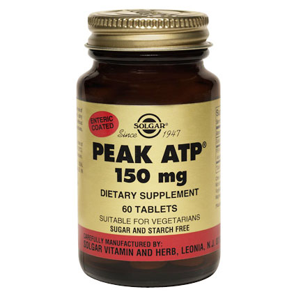 Peak ATP 150 mg, 60 Tablets, Solgar - CLICK HERE TO LEARN MORE