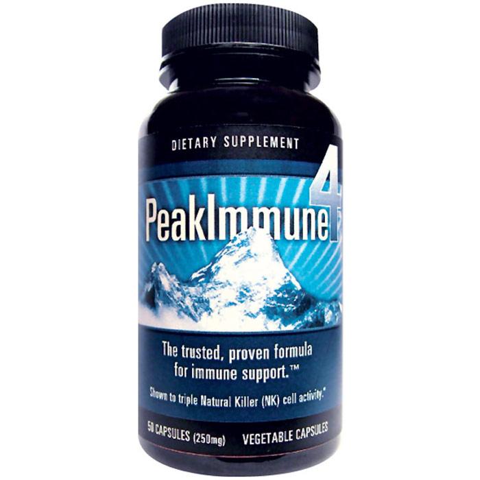 Peak Immune 4, PeakImmune Formula, 50 Vegetarian Capsules, Daiwa Health Development
