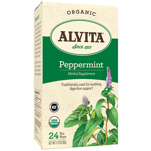Organic Peppermint Tea, 24 Tea Bags, Alvita Tea