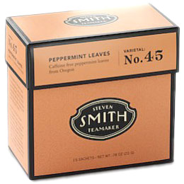 Peppermint Leaves Herbal Infusion Tea, Varietal No. 45, 15 Tea Bags, Steven Smith Teamaker