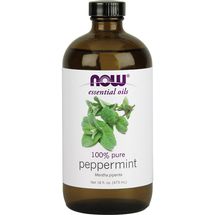 Peppermint Oil, 16 oz, NOW Foods
