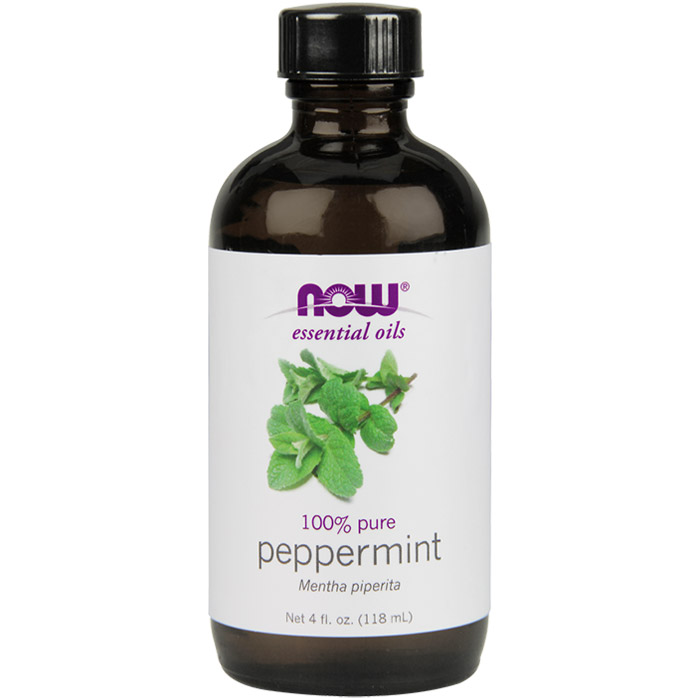 Peppermint Oil, 4 oz, NOW Foods