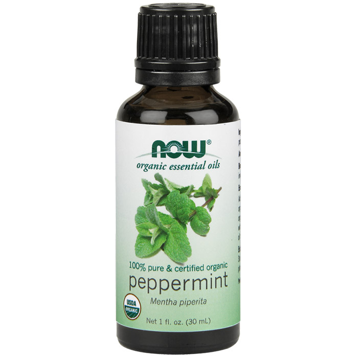 Peppermint Oil, Organic Essential Oil 1 oz, NOW Foods