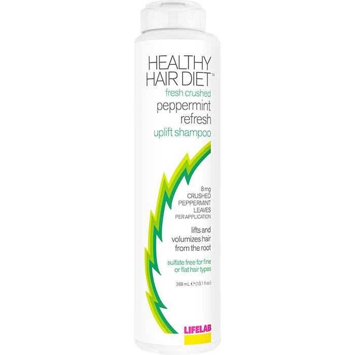 Healthy Hair Diet Fresh Crushed Peppermint Refresh Uplift Shampoo, 13.1 oz, LifeLab