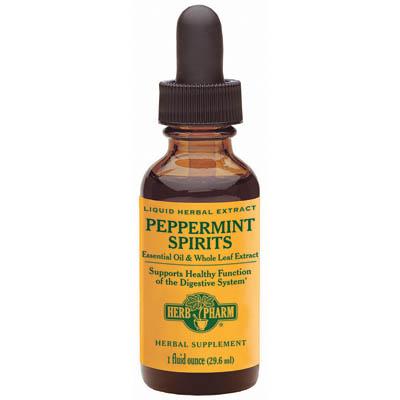 Peppermint Spirits Liquid, 4 oz, Herb Pharm