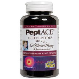 PeptACE Peptides 500mg 90 Capsules, Natural Factors