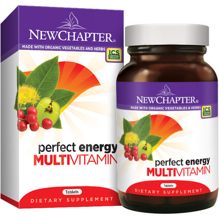 Perfect Energy, Whole-Food Multi Vitamins with Energizing Herbs, 72 Tablets, New Chapter
