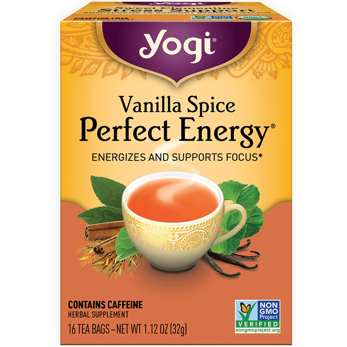 Perfect Energy Tea, Vanilla Spice, 16 Tea Bags, Yogi Tea
