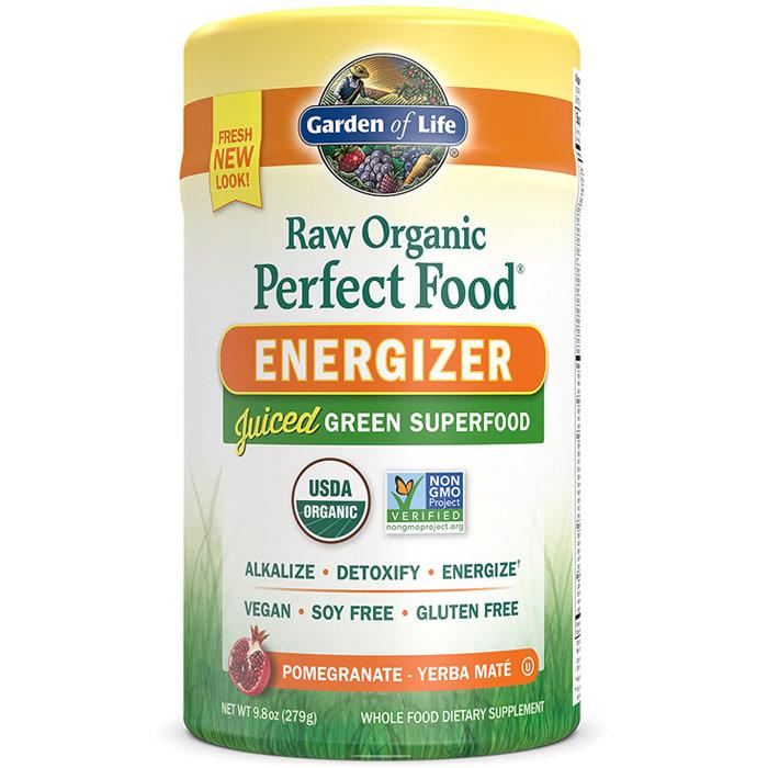 Raw Organic Perfect Food Energizer, Juiced Green Superfood Powder, 9.8 oz (279 g), Garden of Life