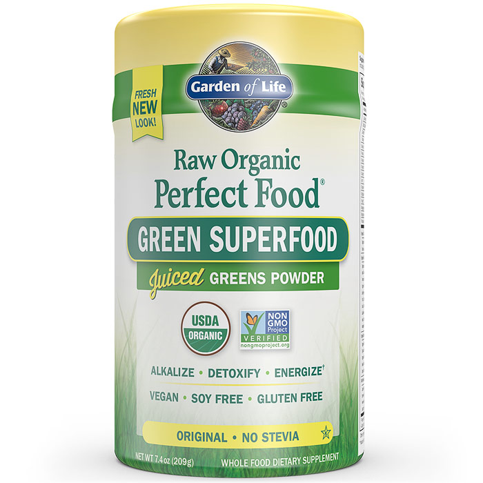 Perfect Food Raw Organic Green Superfood Powder - Original, 7.4 oz (209 g), Garden of Life