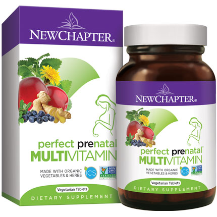 Perfect Prenatal, Whole-Food Multivitamin, 192 Tablets, New Chapter