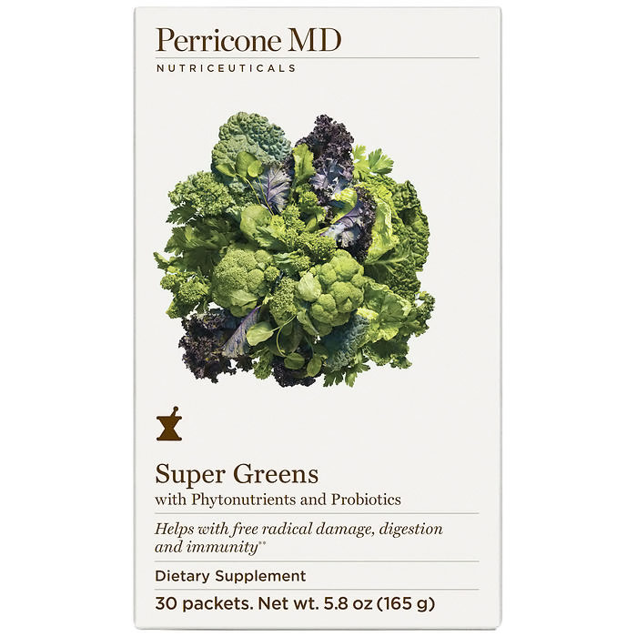 Perricone MD Super Greens Powder, with Phytonutrients & Probiotics, 30 Packets