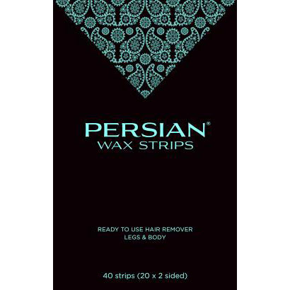 Persian Wax Strips for Legs & Body, 40 Strips, Parissa Natural Hair Removal