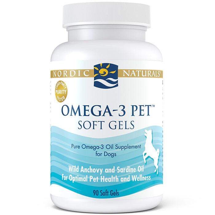 Pet Omega-3, Fish Oil for Dogs & Cats, 90 Softgels, Nordic Naturals