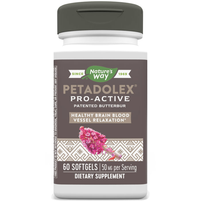 Petadolex Pro-Active, Butterbur Extract, 60 Softgels, Enzymatic Therapy