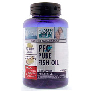 PFO Pure Fish Oil 180 softgels, Health From The Sea