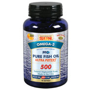PFO Pure Fish Oil Ultra Potent 500, 90 Softgels, Health From The Sun