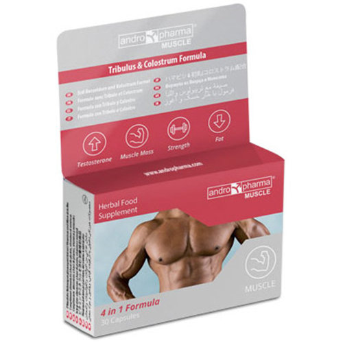 AndroPharma Muscle, Muscle Building Formula, 2 Boxes (2 Month Supply), Andro Pharma