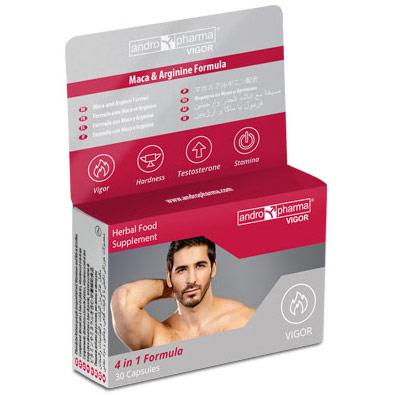 AndroPharma Vigor, Male Sexual Enhancement Formula, 2 Boxes (2 Month Supply), Andro Pharma