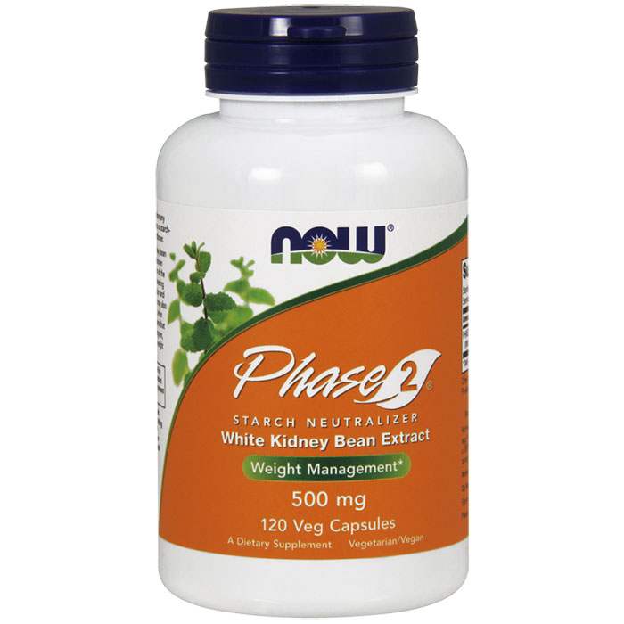 Phase 2 500mg Vegetarian 120 Vcaps, NOW Foods