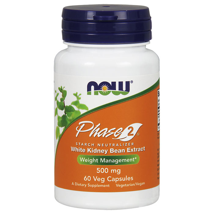 Phase 2 500mg Vegetarian 60 Vcaps, NOW Foods