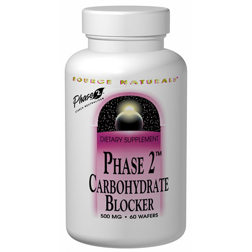 Phase 2 Carbohydrate Blocker (Carb Blocker) Chewable 500mg 60 wafers from Source Naturals