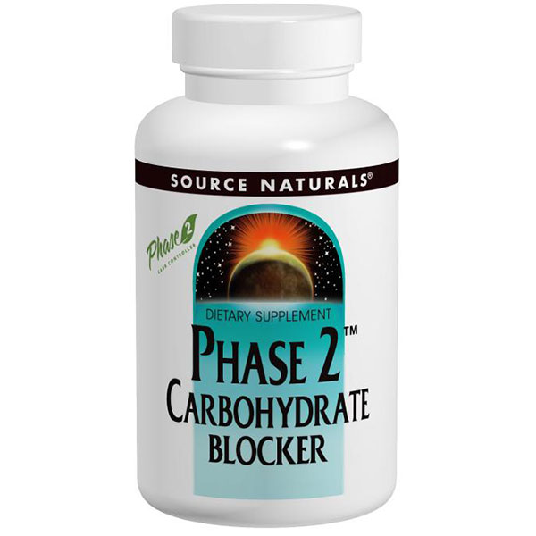Phase 2 Carbohydrate Blocker (Carb Blocker) 500mg 60 tabs from Source Naturals