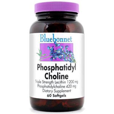 Phosphatidyl Choline 420 mg, 60 Softgels, Bluebonnet Nutrition