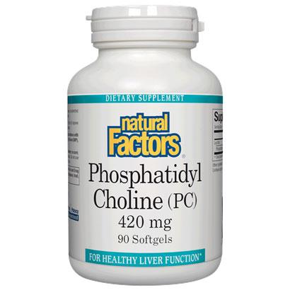 Phosphatidyl Choline 420mg 90 Softgels, Natural Factors