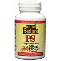 Phosphatidyl Serine 100mg 30 Softgels, Natural Factors
