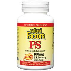 Phosphatidyl Serine 100mg 60 Softgels, Natural Factors