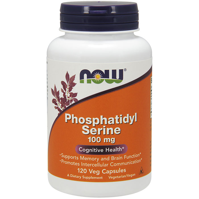 Phosphatidyl Serine 100mg with Choline & Inositol 120 Vcaps, NOW Foods