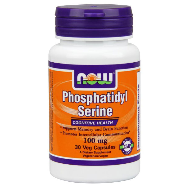 Phosphatidyl Serine 100mg with Choline & Inositol 30 Vcaps, NOW Foods