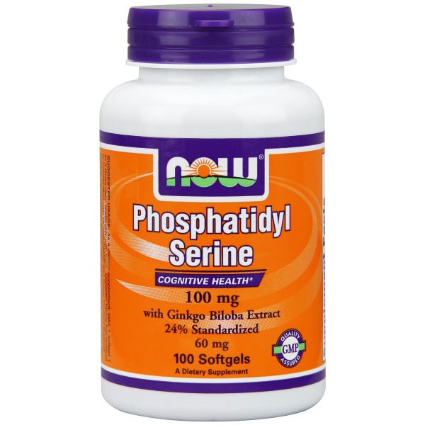 Phosphatidyl Serine 100mg / Ginkgo Biloba 60mg 100 Gels, NOW Foods