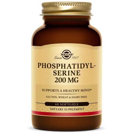 Phosphatidylserine 200 mg, 60 Softgels, Solgar