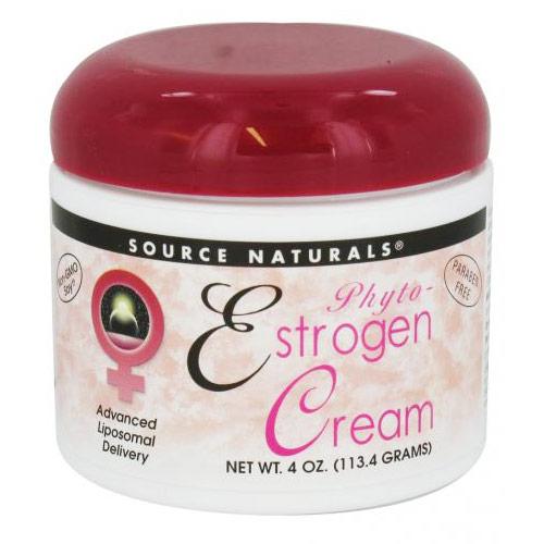 Phyto-Estrogen Cream (Phytoestrogen Cream) Liposome 4 oz from Source Naturals