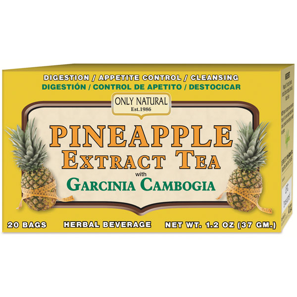Pineapple Extract Tea with Garcinia Cambogia, 20 Tea Bags, Only Natural Inc.