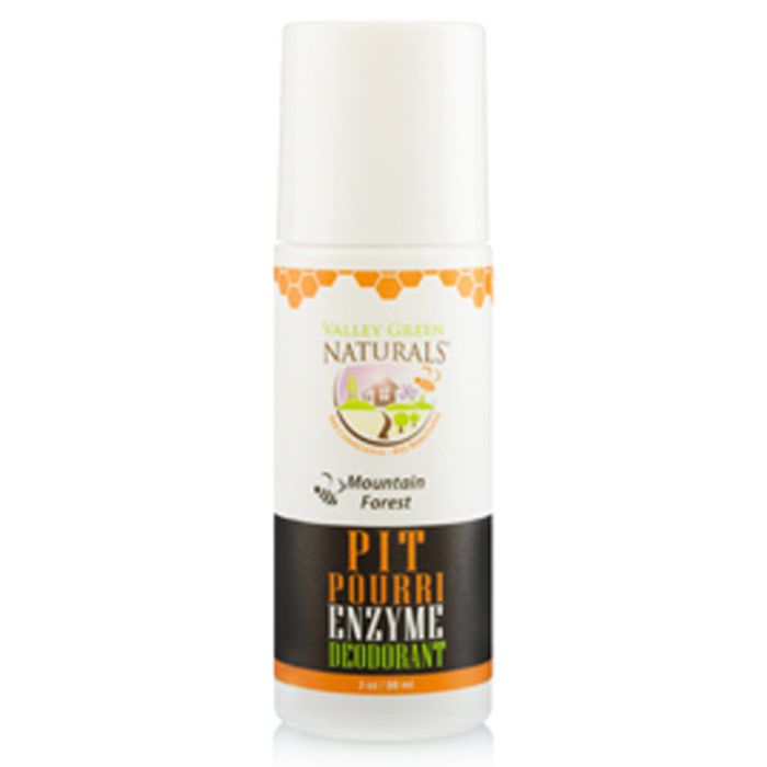 Pit Pourri Natural Enzyme Deodorant - Mountain Forest, 3 oz, Valley Green Naturals