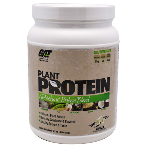 Plant Protein, All-Natural Blend, 1.48 lb (20 Servings), GAT Sport