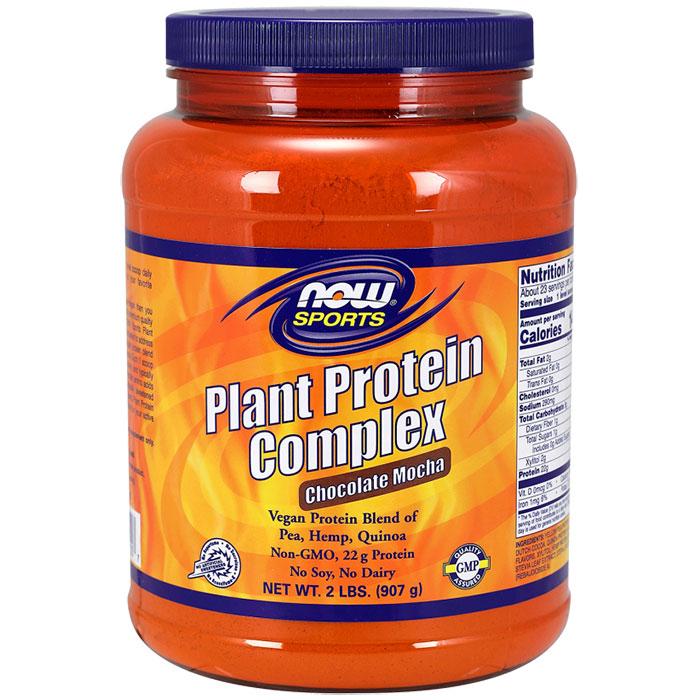Plant Protein Complex Powder - Chocolate Mocha, 2 lb, NOW Foods