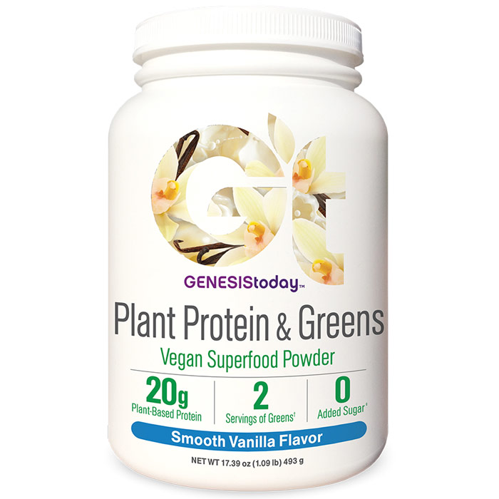 Plant Protein & Greens - Smooth Vanilla, 17 Servings, Genesis Today