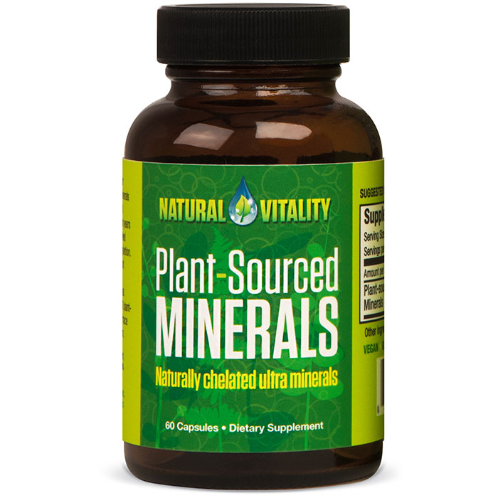 Plant-Sourced Minerals, 60 Vegan Capsules, Natural Vitality
