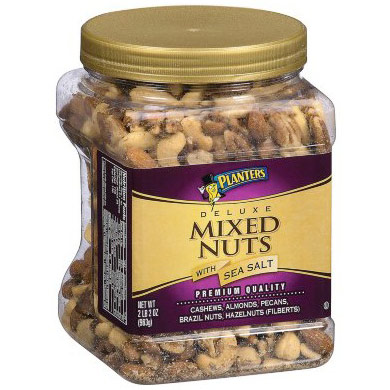 Planters Deluxe Mixed Nuts with Sea Salt, 34 oz