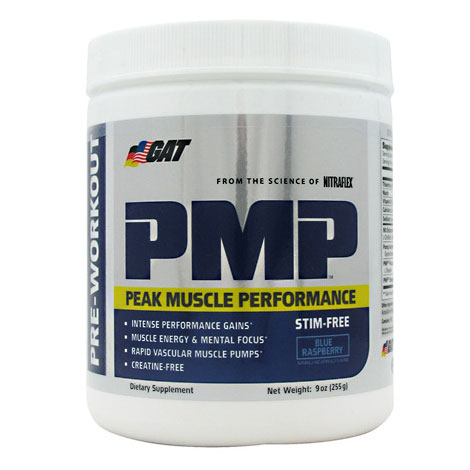 PMP Stim-Free, Peak Muscle Performance Stimulant-Free, 30 Servings, GAT Sport
