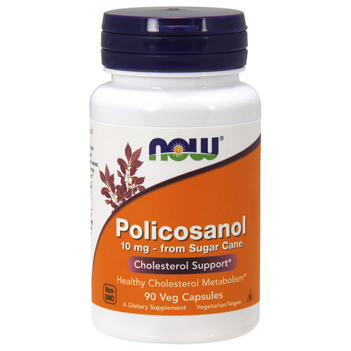 Policosanol 10mg Vegetarian 90 Vcaps, NOW Foods