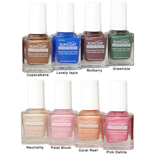 Image of Polish & Peel Water-Based Nail Polish, Capacabana, 0.27 oz, Suncoat Products, Inc.