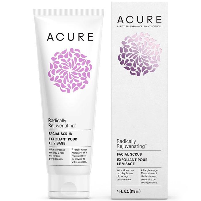 Acure Radically Rejuvenating Facial Scrub, 4 oz