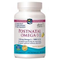 Postnatal Omega-3, Purified Deep Sea Fish Oil - Lemon Flavor, 60 Softgels, Nordic Naturals